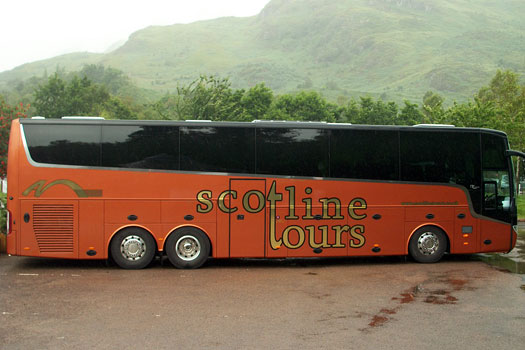 Our Tour Coach in Scotland 2013
