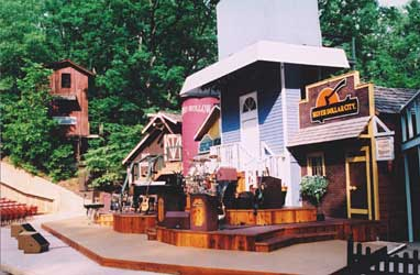 The Echo Hollow stage setting.