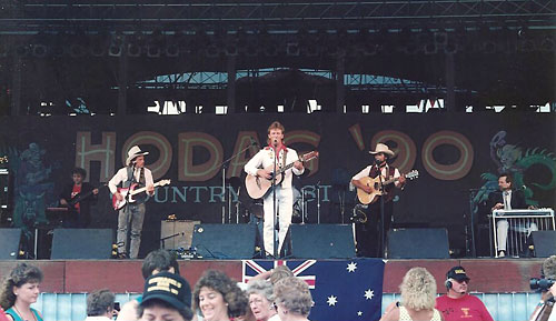 Wayne and his band onstage 1990