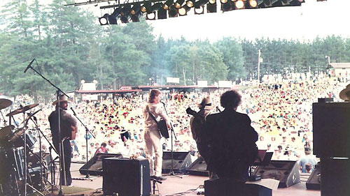 A band's-eye view of the crowd - 1990