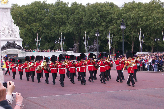 Marching band in London
