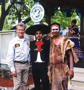 with a Mexican Caballero and Aboriginal dancer