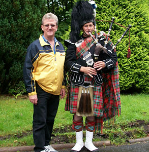 Piper in Scotland