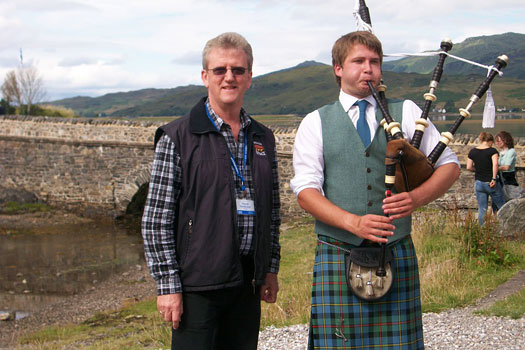 Scottish piper at Eilean Donan Castle