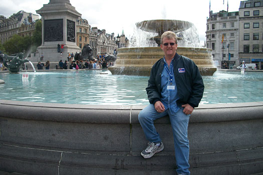 Wayne in Trafalgar Square