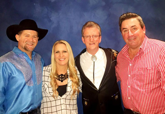 Justin Standley, Johanna Hemara, Wayne, Steve Passfield at the Mildyra Country Music Festival 2015