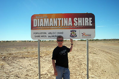 Wayne visits the Diamantina Shire