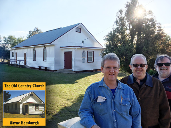 Wayne, Bob and Greg in front of the Swanpool Uniting Church