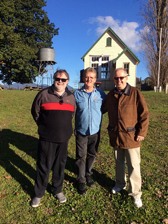 Greg, Wayne and Bob at Lima School