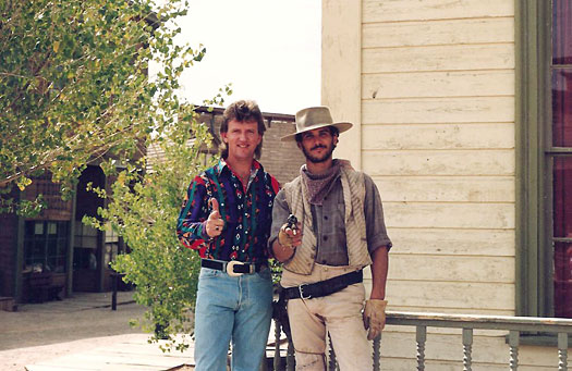 with Cowboy at Old Tucson 1991