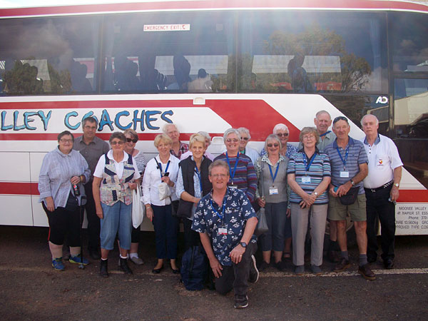 Part of the 2017 tour group on their way back to Adelaide