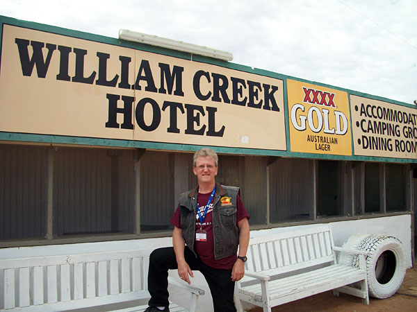 Wayne at William Creek Hotel, South Australia