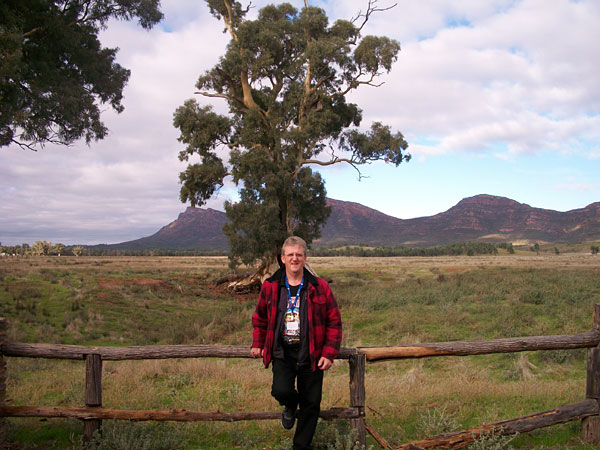 Wayne at Wilpena Pound, Flinders Ranges, South Australia